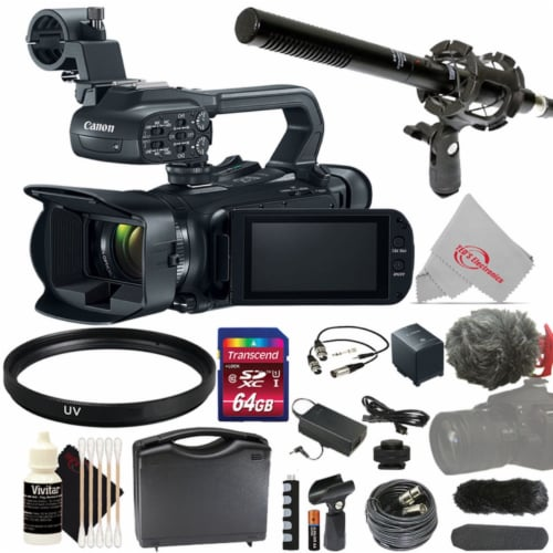 Canon Xa11 Compact Full Hd 20x Optical Zoom Camcorder-pal With Top Accessory Kit Perspective: front