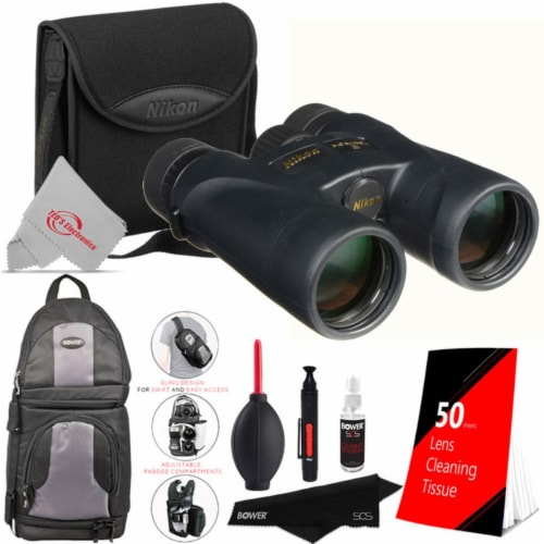 Nikon 12x42 Monarch 5 Binocular With Top Cleaning Accessory Kit Perspective: front
