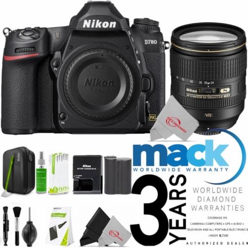 Nikon D780 24.5mp Fx-format Dslr Camera Body + Af-s 24-120mm Ed Vr Lens + Cleaning Kit Perspective: front