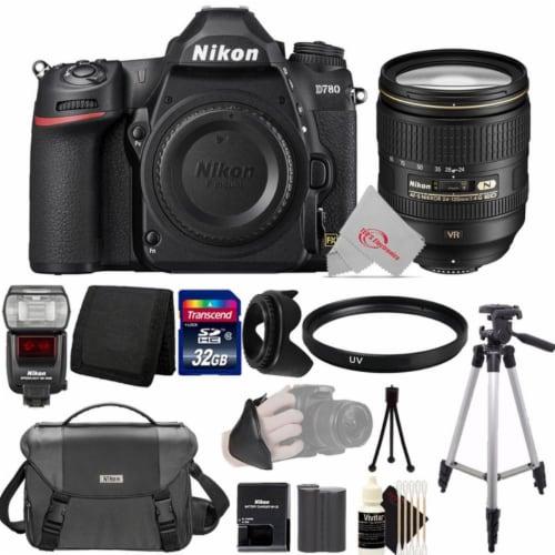 Nikon D780 24.5mp Fx-format Dslr Camera Body + Af-s 24-120mm Ed Vr Lens Accessory Kit Perspective: front