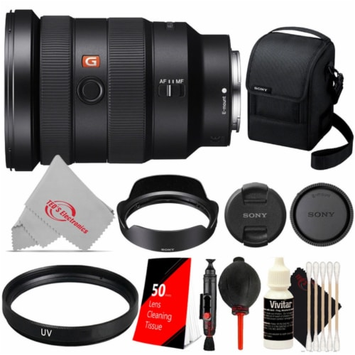 Sony Fe 16-35mm F/2.8 Gm Wide-angle Zoom Full-frame Lens Essential Accessory Kit Perspective: front