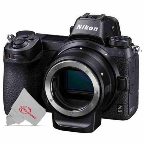 Nikon Z6 Mkii Fx-format 24.5mp Mirrorless Camera Body With Mount Adapter Ftz Perspective: front