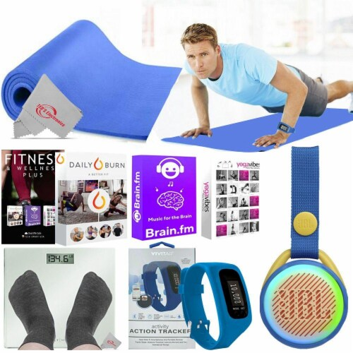 Fitness Yoga Mat Scale Bluetooth Speaker 6000 Online Classes For Muscle Training Perspective: front