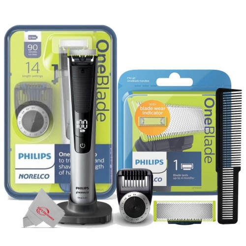 Philips Norelco Oneblade Electric Trimmer And Shaver + 1 Pack Replacement Blade Perspective: front