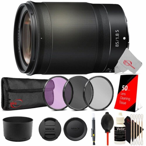 Nikon Nikkor Z 85mm F/1.8 S Fx Format Lens + Top Accessory Kit Perspective: front