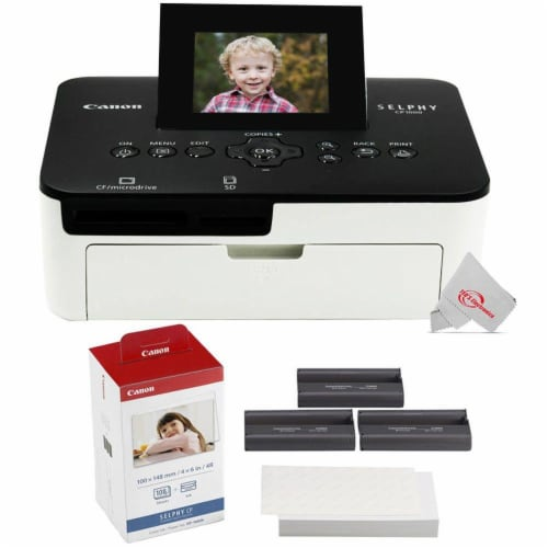 Canon Selphy Cp1000 Compact Colored Photo Printer + Color Ink 4x6 Paper Set 3115b001 Perspective: front