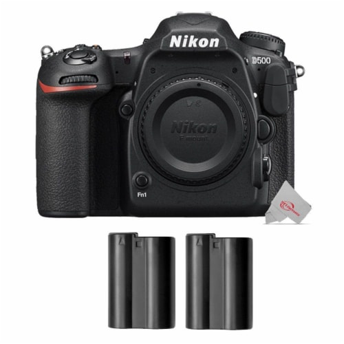 Nikon D500 D-slr 20.9mp Camera Body With Two Packs Nikon En-el15 Rechargeable Battery Perspective: front