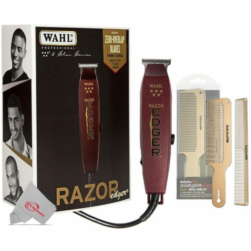 Wahl 8051 Professional 5 Star Razor Edger Trimmer With Pro Barberology Comb Set Perspective: front