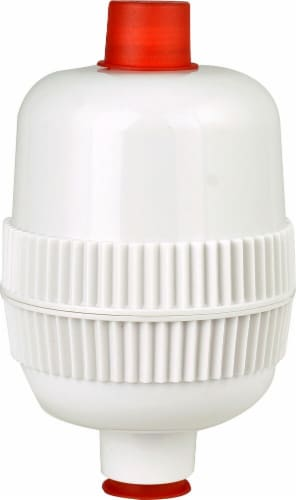 New Wave Enviro  Premium Shower Filter Gloss White Finish Perspective: front
