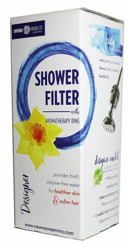New Wave Enviro  Designer Shower Filter Perspective: front