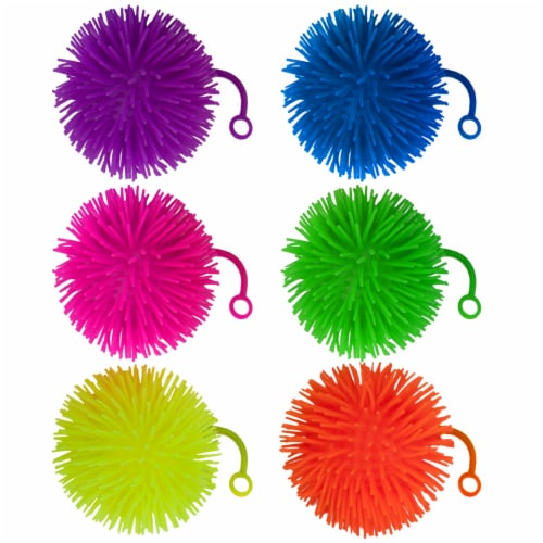 "Set of 6 Jumbo 5"" Light Up Puffer Ball Yo-Yos Perspective: front"