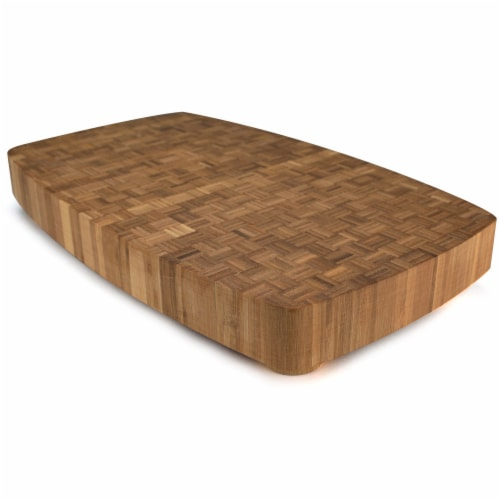 Dark Mocha Natural Bamboo Butcher Block Perspective: front