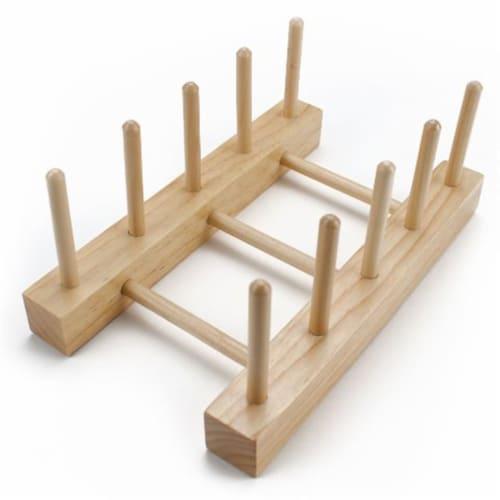 Professor Poplar's Wooden Puzzle Display Stand Perspective: front