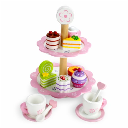 Tea Time Pastry Tower Perspective: front