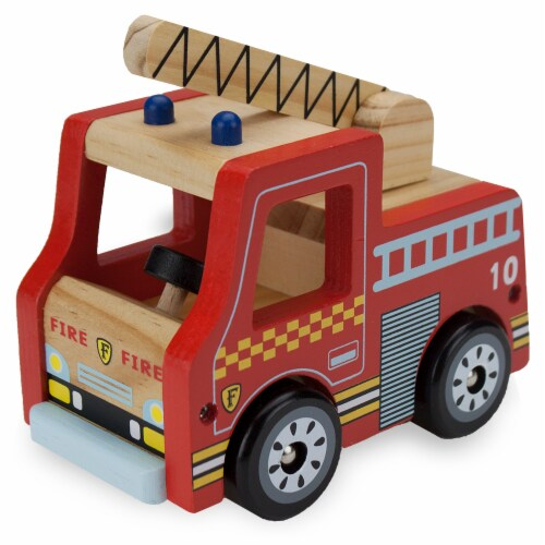 Wooden Wheels Fire Engine Perspective: front