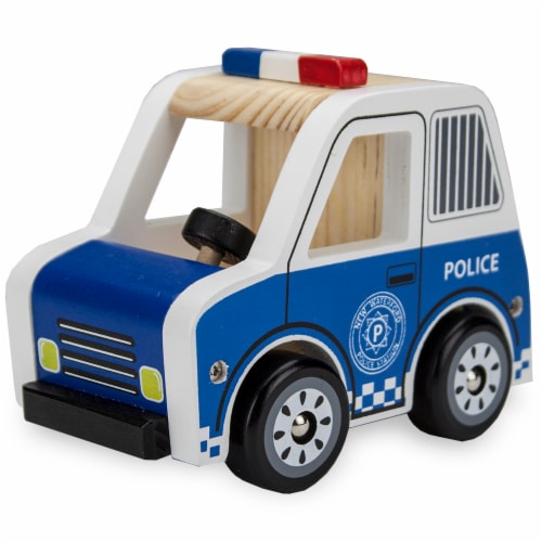 Wooden Wheels Police Cruiser Perspective: front