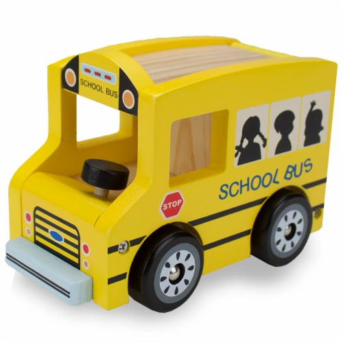 Wooden Wheels School Bus Perspective: front