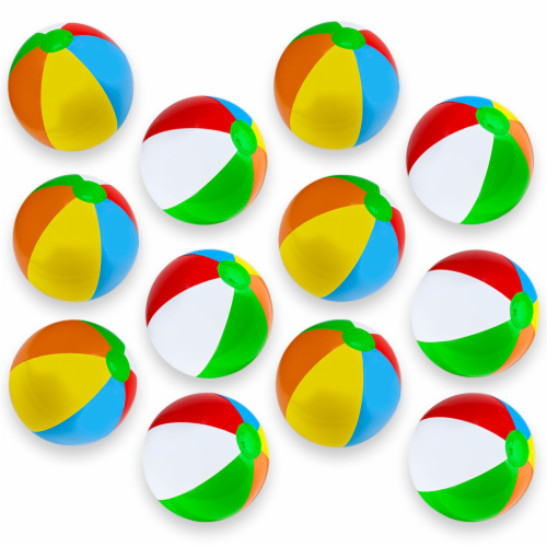 "12-Pack 12"" Beach Balls Perspective: front"