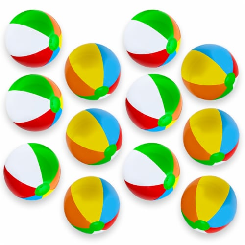 "12-Pack 16"" Beach Balls Perspective: front"