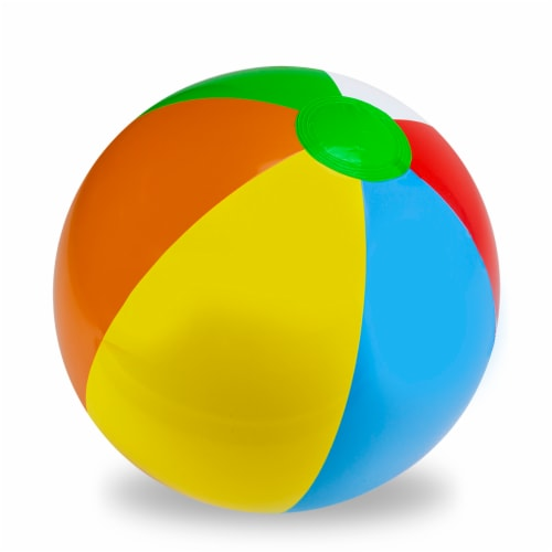 "24"" Six-Color Beach Ball Perspective: front"