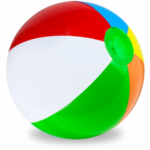 "36"" Six-Color Beach Ball Perspective: front"