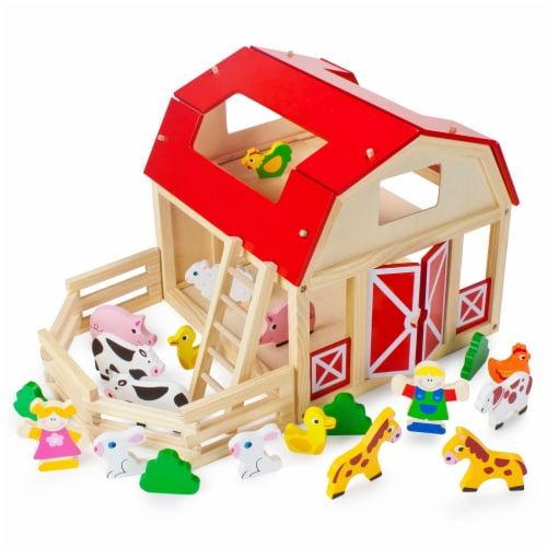 Busy Barnyard Farm Animals Playset Perspective: front