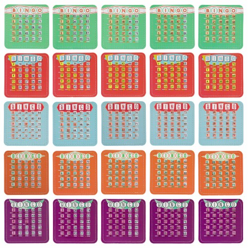 EZ Clear Shutter Bingo Cards, Pack of 25 Perspective: front