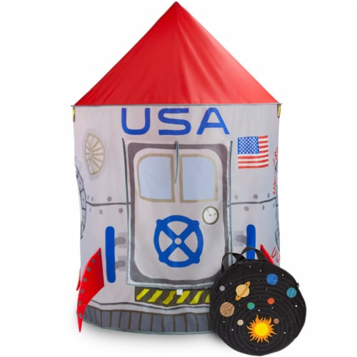 Space Adventure Roarin' Rocket Play Tent Perspective: front