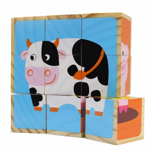Barnyard Animal Block Puzzles Perspective: front
