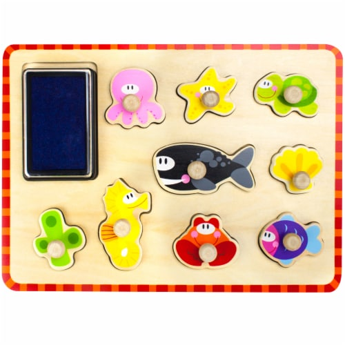 Puzzle Stampers Marine Animals Perspective: front