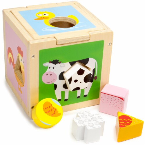Busy Barnyard Sorting Cube Perspective: front