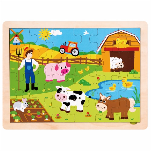 Busy Barnyard Inset Jigsaw Puzzle Perspective: front
