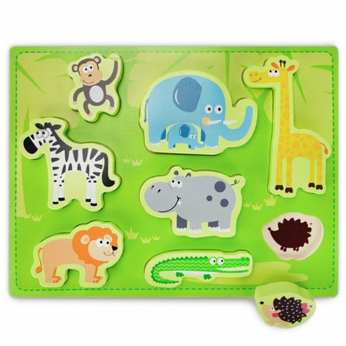 Chunky Exotic Safari Puzzle Board Perspective: front
