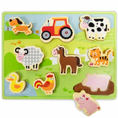 Chunky Barnyard Helpers Puzzle Board Perspective: front