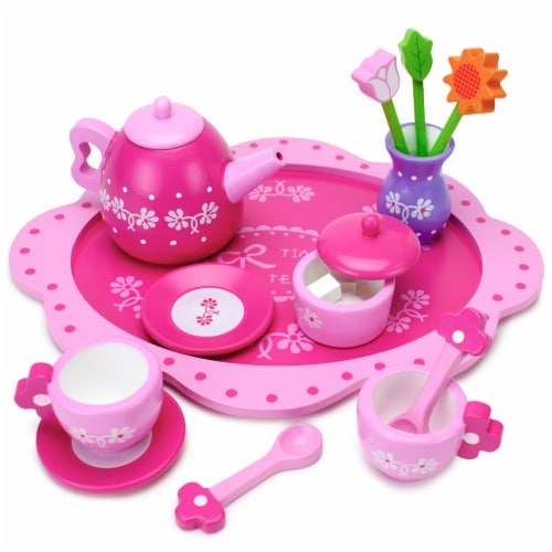 Pink Blossoms Tea Set for Two Perspective: front