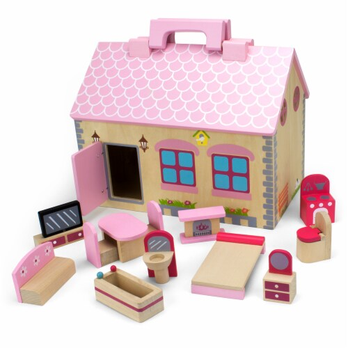 Take-Along Country Cottage Dollhouse Perspective: front