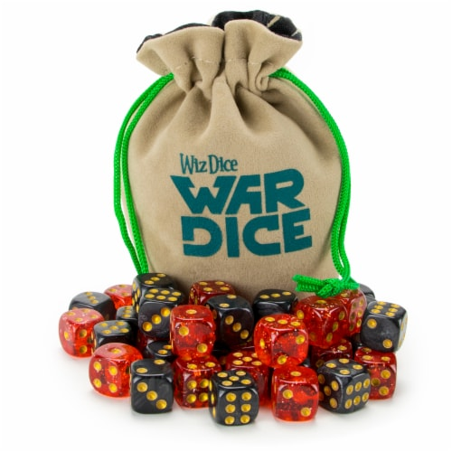 Set of 40 12mm War Dice, Blood & Oil Perspective: front