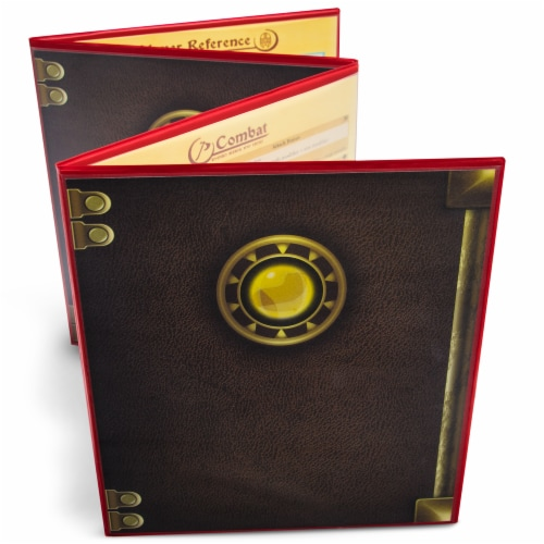 The Master's Tome Customizable DM Screen, Red Perspective: front