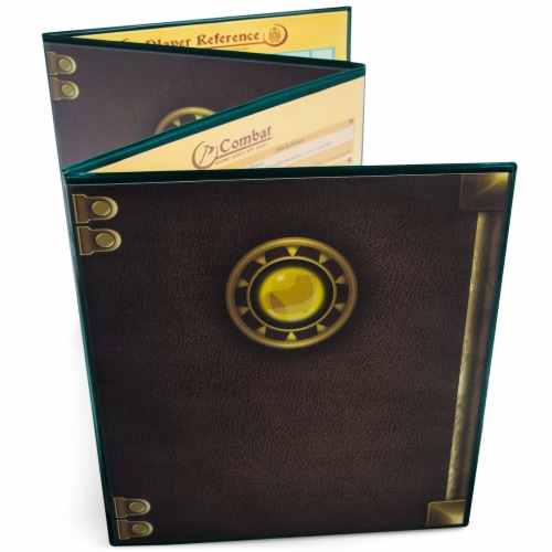 The Master's Tome Customizable DM Screen, Green Perspective: front