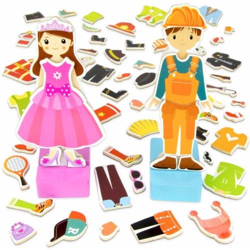 Zoey & Joey Magnetic Dress-up Playset Perspective: front