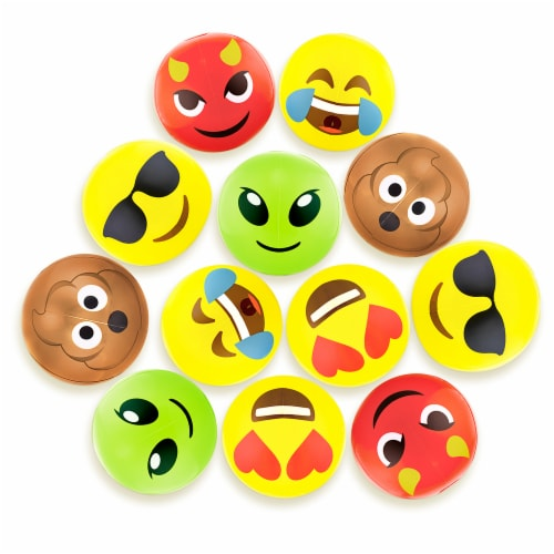 """12"""" Emoji Beach Bums, 12-pack Perspective: front"""