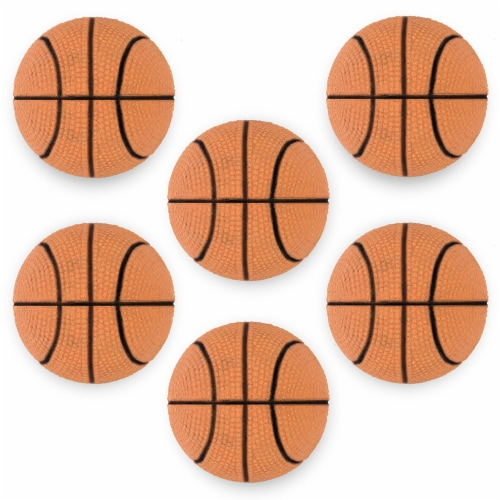 "6 Mini Basketballs, 2.5"" Perspective: front"