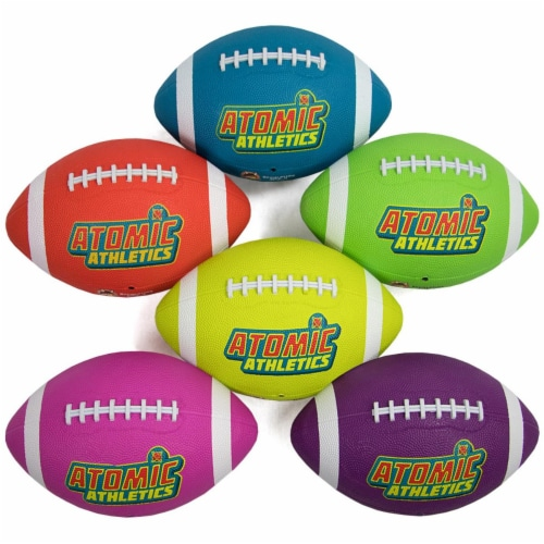 Brybelly SBAL-411 6 Regulation Size Neon Footballs Perspective: front