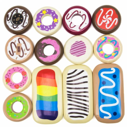 Baker's Dozen Wooden Donuts Perspective: front
