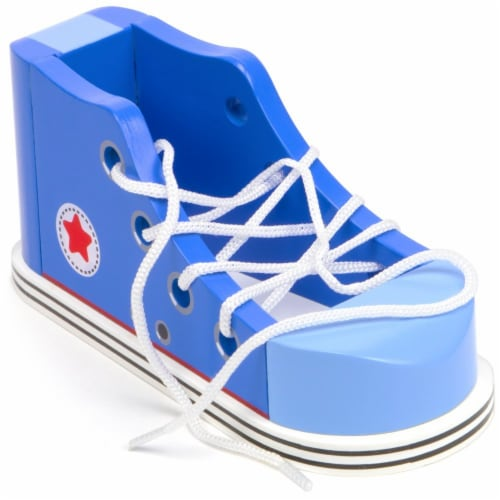 Cool Kicks Blue Lacing Sneaker Perspective: front