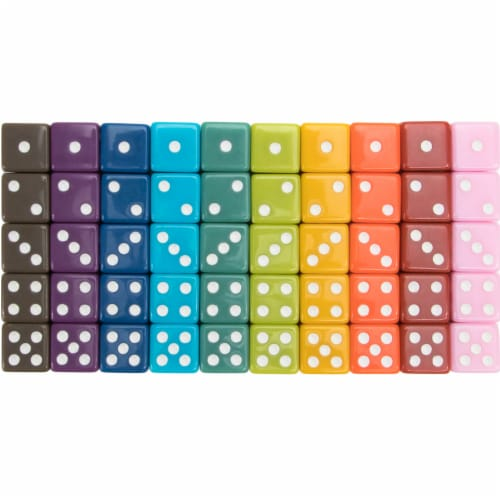 Vintage Solid Dice, 50-pack Perspective: front
