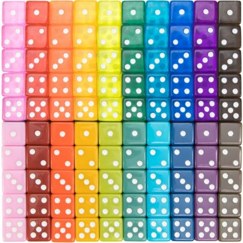 Vintage Assorted Dice, 100-pack Perspective: front