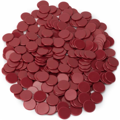 Solid Red Bingo Chips, 300-pack Perspective: front
