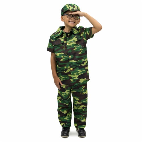 Courageous Commando Children's Costume, 7-9 Perspective: front