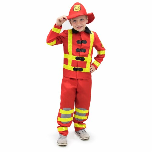 Flamin' Firefighter Children's Costume, 7-9 Perspective: front
